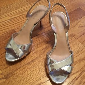 Calvin Klein Lucette Silver Slingback Heel Used